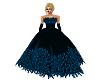 Elegant Blu Feather Gown
