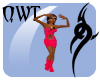 QWT Pink Dress w/ Boots