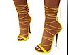 yellow strap heel