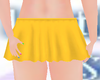 KID YELLOW MINI SKIRT
