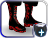 Black Red Neon Club Boot