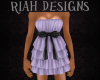 Ruffle Bow Dress Purple