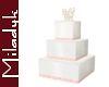MLK Square Wedding Cake