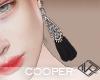 !A black long earrings