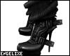 {EX} Black Buckle Heels