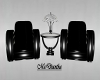 Black Chair Set