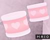 🅜 PINKU: cuff set pnk