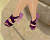 Purple Ball Heels