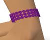 diamond anklet Purple