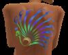 Color Peacock Back Tatt