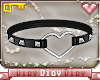 *D* Heart Choker Black S
