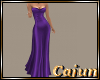 Royal Purple Satin Gown