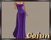 Royal Purple Satin Gown