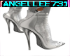 SILVER SNAKE ANKLE BOOTS