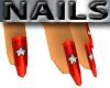 Red Nails Diamond Star