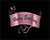 Pink Happy Bday Banner