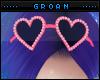 A| Pink Heart Glasses V2