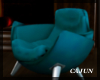 Teal Kissing Chair