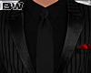 Black Gangster Strp Suit