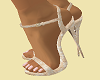 "5"" Cream Lace Heels"
