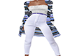 Blue White Sweater Outfi