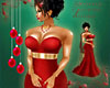 Deep Red Gown Jewerly
