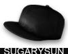 /su/ LEATHER CAP BLACK