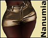 SHORTS LEATHER GOLD
