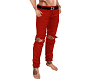 Red Rip Jeans