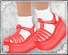 Red Jellies With Socks
