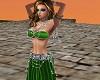 Dancer silks green