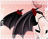 Rose Demon Wings |Red