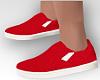 Red Slip-on Vans