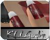 *KLL Red Snowflake Nails