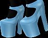 B! Blue Heels Black Sock