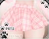 [Pets]Plaid skirt | Rose