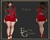 Red black dress strass