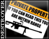 {D}Private Property Sign