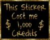 Expensive Sticker