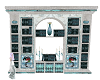 White and teal Bookcase