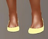 Pale Yellow Flat Shoes