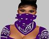 Purple Bandana Mask