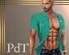 PdT BiminiTeal OpenShirt