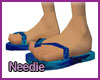 Blue Ocean Flip Flops-M
