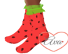 Lace socks Watermelon