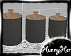 Black Matte Canisters