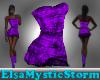 Violet Spark Zap Dress