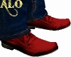 *ALO*Red Suede Shoes