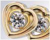 -A- Heart Stud Earrings