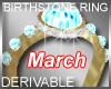 Birthstone Ring March